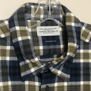Barbour Rowlock Check Shirt Willow Green
